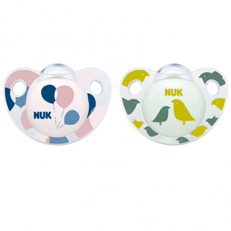 Nuk Silicone Soother 0-6m. Adore 2 pcs for girl from Pakostnik