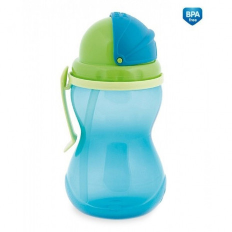 Canpol Sports non-winding cup with straw 370ml 12m + Blue from Pakostnik