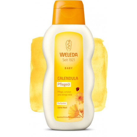 Weleda Baby oil with calendula for massage and cleaning, unscented 200ml. Weleda from Pakostnik