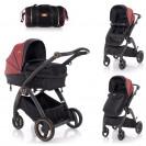 Combi Stroller ADRIA Black and Red