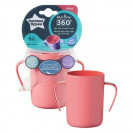 An indestructible 360 ° transition cup with handles 200ml. 6м+ girl
