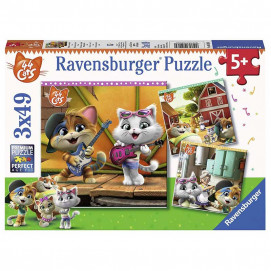 Ravensburger Puzzle 44 Cats 3 x 49pc