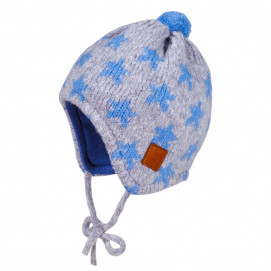 Maximo Winter hat with gray ties of blue Asterisks