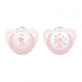 Nuk Rose pacifiers silicone 0-6m. 2 pcs