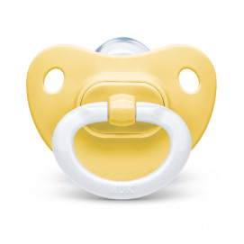 Nuk Soother silicone 0-6m. FASHION Yellow