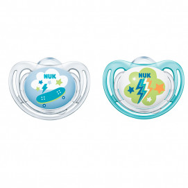Nuk Orthodontic soothers Freestyle 6-18m 2 pcs for boy