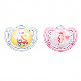 Nuk Orthodontic soothers Freestyle 6-18m 2 pcs for girl