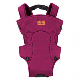 Lorelli Baby Carrier BETWEEN Dark Red Cyclame and Black