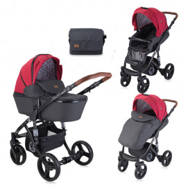 Lorelli Combi Stroller RIMINI Red and Black Lighthouse