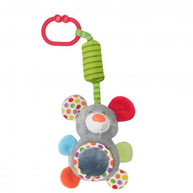 Lorelli Toys Plush toy with a bell ringing MOUSE