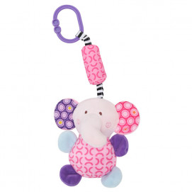 Lorelli Toys Plush toy with a bell ringing ELEPHANT