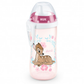 Nuk Kiddy Cup bottle 300ml with hard tip 12m + BAMBI