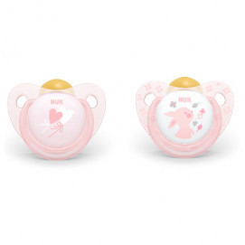 Nuk Latex soothers 0-6m. 2 pcs Rose