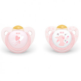 Nuk Latex pacifiers 6-18m. 2 pieces Rose