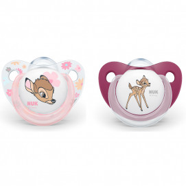 Nuk Silicone pacifiers 6-18m. 2 pcs BAMBI