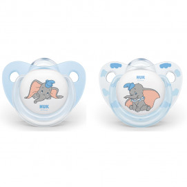 Nuk Silicone pacifiers 0-6m. 2 pcs DUMBO