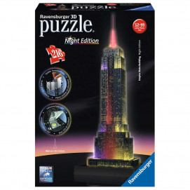 Ravensburger Empire State Building at Night, 3D Puzzle