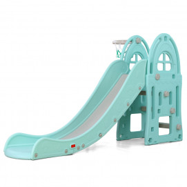 Moni Slide with basketball hoop ALEGRA 18016 Blue