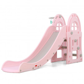 Moni Slide with basketball hoop ALEGRA 18016 Pink