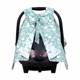 Sevi bebe Car seat cover with ribbon Leaves