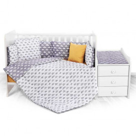Lorelli Bedding set for bed TREND Ranforce Clouds Grey