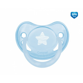 Canpol babies Silicone anatomical soother 6-18m. Pastelove blue