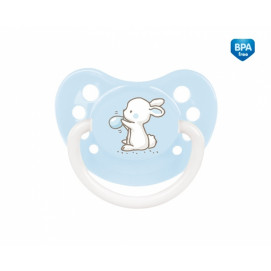 Canpol Silicone anatomical soother 0-6m. Little Cutie blue