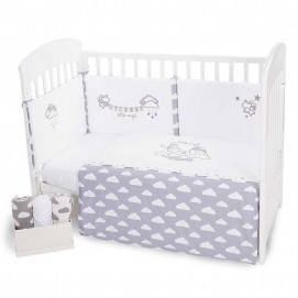 Kikkaboo Bedroom set 2 parts EU style 70/140 with embroidery LITTLE ANGEL CLOUDS