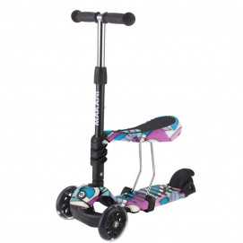 Kikkaboo Scooter 3 in 1 RIDE AND SKATE Picasso