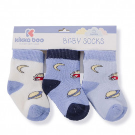 Kikkaboo Set of cotton thermal socks (from 0/6 months to 2/3 years) SKY BLUE