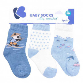 Kikkaboo Set of cotton thermal socks (from 0/6 months to 2/3 years) THE FISH PANDA