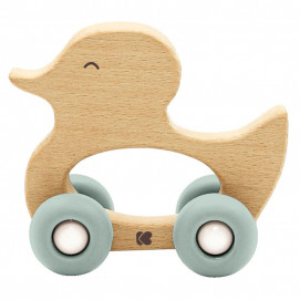 Kikkaboo Wooden toy with a comb DUCK Mint