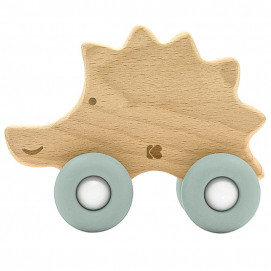 Kikkaboo Wooden toy with a comb HEDGEHOG Mint