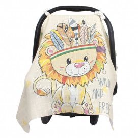 Sevi bebe Muslin car seat cover Lion