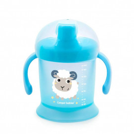 Canpol babies Non-flowing cup with hard tip and lid 200ml Blue