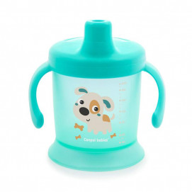 Canpol babies Non-flowing cup with hard tip and lid 200ml Turquoise