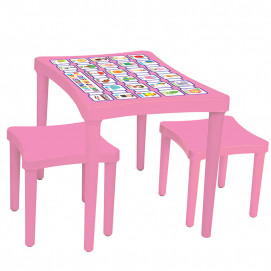 Pilsan Table with chairs Pink