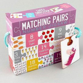 Floss and Rock Jigsaw matching pairs numbers pink