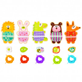 TOOKY TOY Wooden sewing game ANIMALS