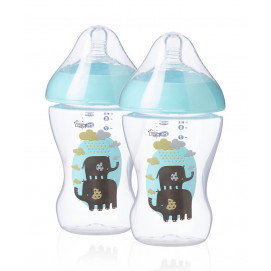 Tommee Tippee Feeding bottles 2 pieces Ultra 260 ml. blue
