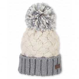 Sterntaler Children's knitted hat with a pompom for a girl