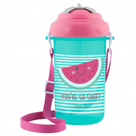 Canpol Sport cup with flip-top straw 400ml. blue and pink