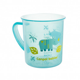 Canpol babies Cup with handle AFRICA 12m+ 170ml Blue