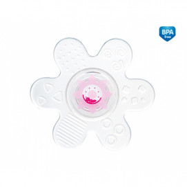 Canpol Rattle with Soft Teether Star Pink