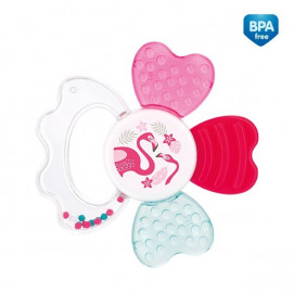 Canpol babies Rattle with soft bite teether Jungle Pink