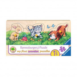 Ravensburger My First Wooden Puzzles Cute Baby Animals 3pc