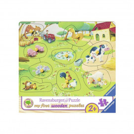 Ravensburger Wooden Jigsaw Puzzle - Farm Animals 9pc
