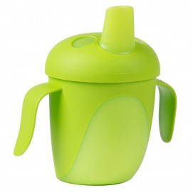 Canpol Non-spill Cup with Hard Spout 240ml TROPICAL BIRD Green