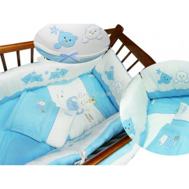 Baby Dji Baby sleep set 10 pcs. blue Baby Dji