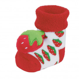Sterntaler Baby socks with rattle Red